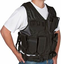 MODERN WARRIOR Tactical Hunting VEST with Holster & Pouches Black Adjustable NEW