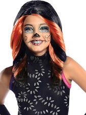 Child Monster High Skelita Calaveras Wig Outfit Fancy Dress Halloween Kids Girls