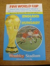 18/11/1981 Jack Wiseman Programme (higher quality paper): England v Hungary [At