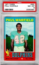 1971 Topps #261 Paul Warfield PSA 8  Dolphins