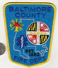 Baltimore County Maryland Fire and Emergency Patch EMS Police