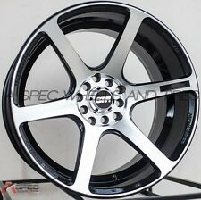 17X9 STR521 WHEELS 5X100/114.3 RIMS +20MM BLACK W/MACHINE FACE (SET OF 4 )