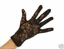 Short Fine lace Gloves Delicate Floral Lace Short Wrist Gloves For Prom Wedding
