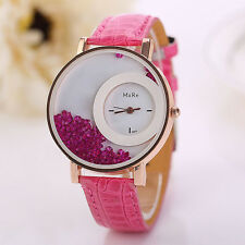 Vogue Woman Girl Casual Watch Leather Rhinestone Quartz Bracelet Luxury watches