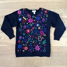 Jeremy Scott Colourful Rainbow Patterned Knitted Jumper.