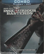 Inglourious Basterds (Blu-ray/DVD, 2009, 2-Disc Set) Steelbook NEW