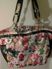 Tokidoki LeSportsac Very Rare first edition print Bag Meomi Qee Charm