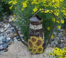 SUNFLOWER Watering CAN/Flower Pot*Primitive/French Country Kitchen Fall Decor