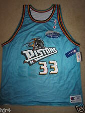 Grant Hill Detroit Pistons Duke NBA Champion Reverse Jersey 48 XL NEW