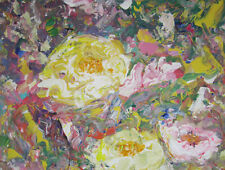 Where the Wild Roses Grow: a painting on canvas by Jenny Hare