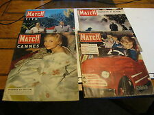 4 ISSUES OF THE PARIS MATCH MAGAZINE, 1955 & 1956, # 350, 358, 369, 370