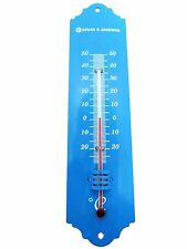 Blue Metal Wall Garden Thermometer Spear & Jackson 53094B