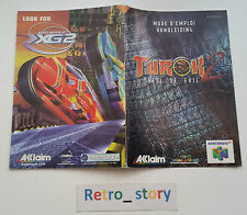 Nintendo 64 N64 Turok 2 Notice / Instruction Manual