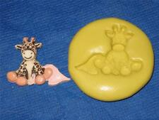 Baby Giraffe Silicone Push Mold #285 For Resin Clay Candy  Baby Shower Craft