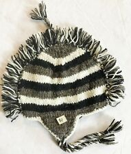 H81 Hand Knitted Mohawk Woolen Hat Cap with Fleece Lining Adult Made In Nepal