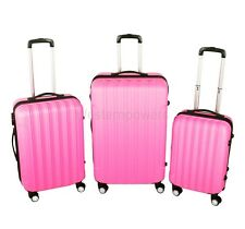 3 Pcs Luggage Spinner Set Travel Bag ABS Trolley Wheels Hard Suitcase Coded Lock