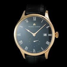 "Maurice Lacroix 18K RG ""Tradition"" Mens Masterpiece Tradition. Black Dial MP6907"