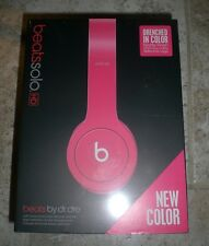 Beats by Dr. Dre Solo HD Drenched  Matte pink Headband Headphones sealed NEW