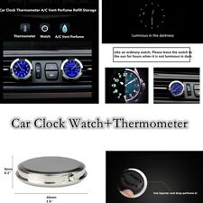 Car Clock Watch+Thermometer with Back Storage Fragrance Reserve for All Vehicles