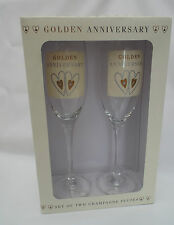 Golden Wedding 50th Anniversary Champagne Flutes