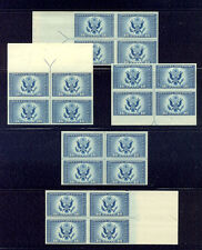 U.S. #754//771 COMPLETE Position Blocks - 1934 Parks Imperf