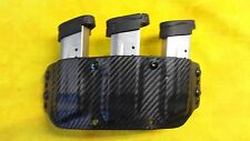 NICE TRIPLE MAG HOLSTER BLACK CARBON KYDEX Glock ALL 9mm and 40 cal. OWB