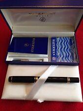 Waterman Paris Fountain Pen Le Man 18K Gold Boxed + Cartridges + Literature MINT