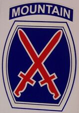 Window Bumper Sticker Military Army 10th Tenth Mountain Division NEW Decal