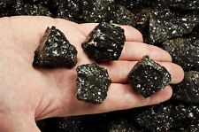 18 Pounds of Natural Black Volcano Jasper Stones - Cabbing, Tumble Rocks, Reiki
