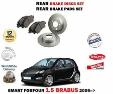 FOR SMART FORFOUR 1.5 BRABUS 2005-  NEW REAR BRAKE DISCS SET + DISC PADS KIT