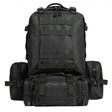 65L BLACK MOLLE TACTICAL MILITARY Assault Backpack Rucksack Bag Hiking NEW