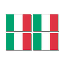 Italy Italian Country Flag - Sheet of 4 - Window Bumper Stickers