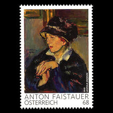 Austria 2015 - Paintings Woman Wearing Dark Hat by Anton Faistauer Art - MNH