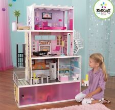 Kidkraft Wooden Dollhouse Beachfront Mansion Furniture Kids Toy Dolls New