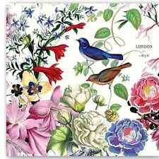THREE (3) Birds, Floral Cocktail Napkins for Decoupage and Paper Crafts