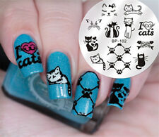 BORN PRETTY Nail Art Stamping Image Plate Template DIY Cute Cats Design BP-102