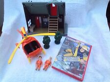 Fireman Sam Toy Figure - Fireman Sam Mountain Rescue Lodge & Helicopter Bundle