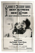 Coming Home Academy Awards Poster Featuring Jane Fonda