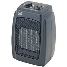 Electric Ceramic Portable Space Heater Rotary Adjustable Thermostat 1500W Black