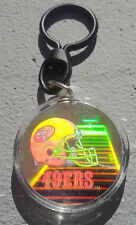 SAN FRANCISCO 49ers NFL IMAGES HOLOGRAM KEY CHAIN RING FOOTBALL HYDE MONTANA