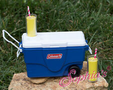 "Coleman Blue Cooler w/Lemonade for American Girl, KNC or Other 18"" Dolls"