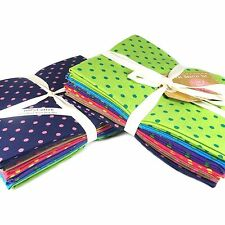 Funky Spots Fabric Pack - Fat Quarter Bundle - The Craft Cotton Company 100%