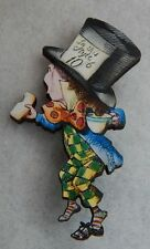 Alice in Wonderland Mad Hatter Brooch or Scarf Pin Accessories Fashion Wood NEW