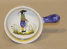 Henriot Quimper Pottery Small Handpainted Bowl Dish with Handle 954 Breton Man