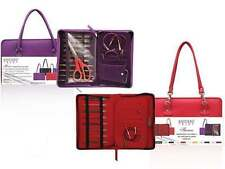 Knitter's Pride ::Faux Leather Thames Small Project Bag:: Purple