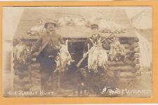 Real Photo Postcard RPPC - Rabbit Hunt Hunter Hunting Port Maitland Nova Scotia