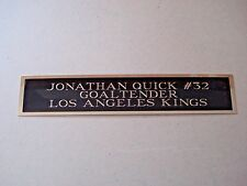 Jonathan Quick Kings Nameplate For A Signed Hockey Stick Case Or Photo 1.5 X 6