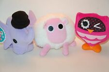 LALALOOPSY PLUSH PETS LOT OF 3 SHEEP OWL ELEPHANT Stuffed Animals Soft