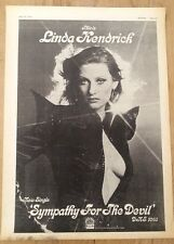LINDA KENDRICK Sympaty For The Devil 1974 Poster size Press ADVERT 16x12 inches
