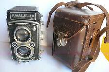 Rolleiflex Model X 120mm TLR Camera Zeiss Tessar 75mm f3.5 lens.Case.